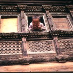 Kid in a window - Nepal