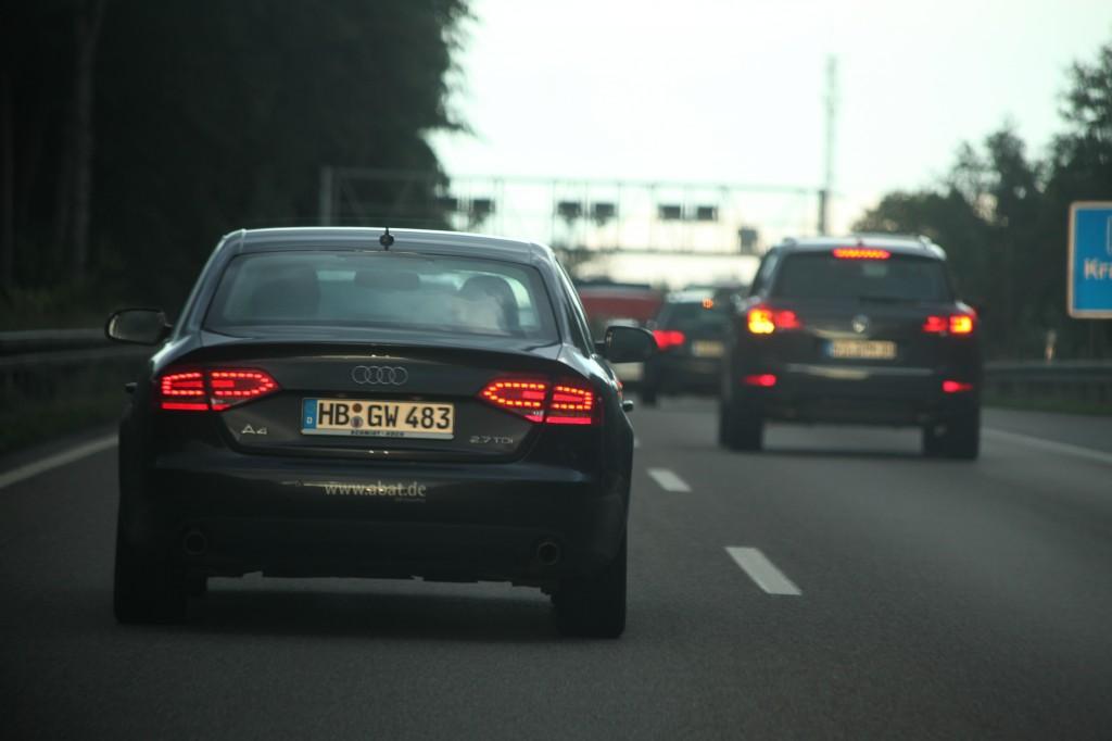 8 hour traffic jam leaving Frankfurt