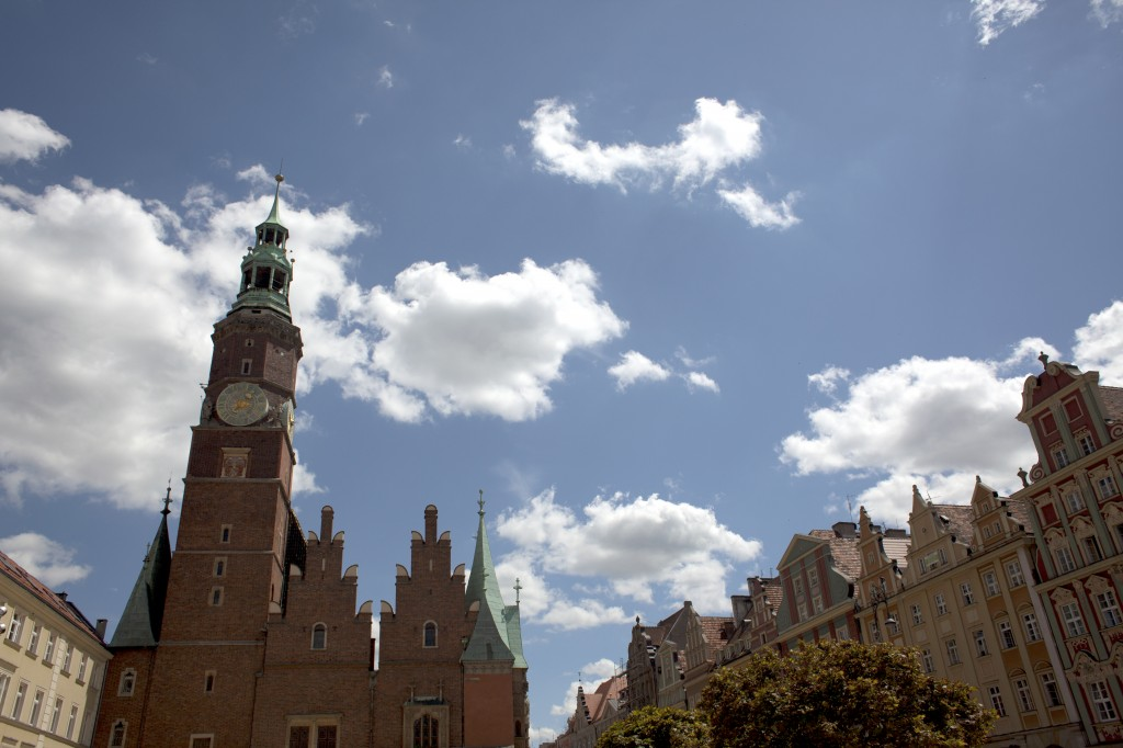The Wroclaw (Breslau) skyline